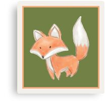Cute Little Fox Painting Canvas Print