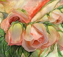 Miracle Of A Rose Bud - Peach by Carol  Cavalaris