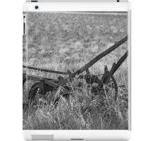 Antique Plow Abandoned in a Field iPad Case/Skin