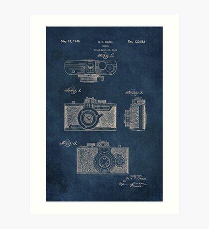 Cazin - Camera patent art Art Print