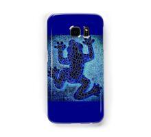 Neon Blue Climbing Frog - Mosaic Samsung Galaxy Case/Skin