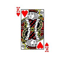 King of Hearts Playing Card Photographic Print