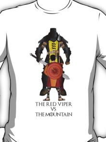 The mountain vs the Red Viper T-Shirt