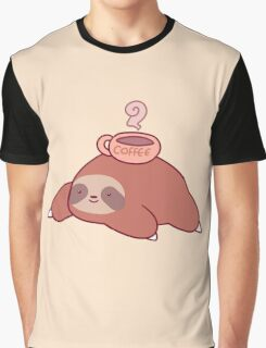 Sloth and Coffee Graphic T-Shirt