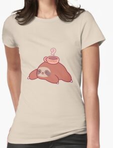 Sloth and Coffee Womens Fitted T-Shirt