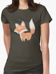 Cute Little Fox Painting Womens Fitted T-Shirt