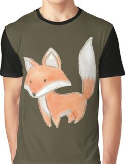 Cute Little Fox Painting Graphic T-Shirt