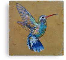 Turquoise Hummingbird Canvas Print