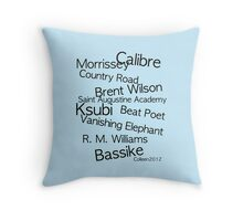 AUSTRALIA'S FINEST MEN'S FASHION DESIGNERS Throw Pillow