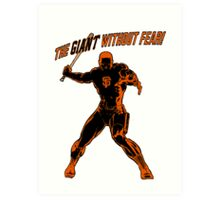 The Giant Without Fear Art Print
