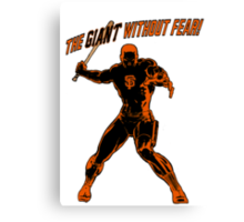 The Giant Without Fear Canvas Print