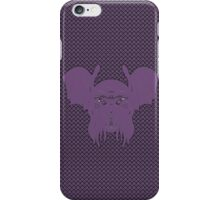 Cthulhu leech, eldritch purple version with background iPhone Case/Skin