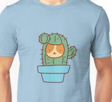 Cat Face Cactus Unisex T-Shirt