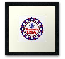NAMASTE USA HAMSA PEACE YOGA HAND Framed Print