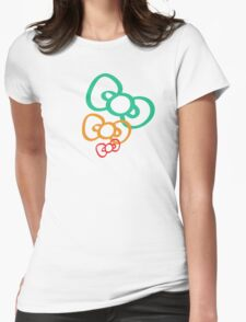 Ribbon Womens Fitted T-Shirt