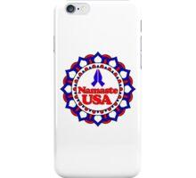 NAMASTE USA PEACE YOGA HAND RED WHITE BLUE PATRIOTIC iPhone Case/Skin
