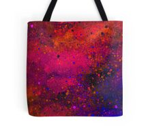 Pink, Blue and Orange Paint Splatters Tote Bag