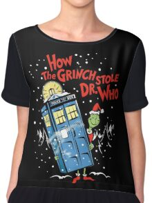 How the Grinch Stole Dr Who (on Dark) Chiffon Top
