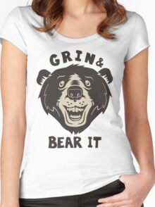 Grin And Bear It Women's Fitted Scoop T-Shirt