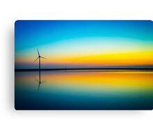 Rainbow Turbine Sunset Canvas Print