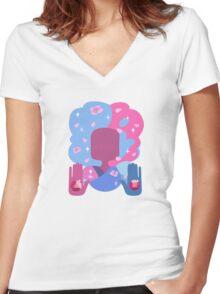 Garnet - Cotton Candy Pastel Women's Fitted V-Neck T-Shirt