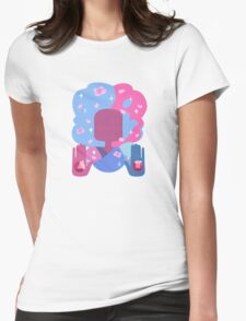 Garnet - Cotton Candy Pastel Womens Fitted T-Shirt