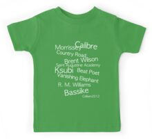 TOP CLASS FASHION DESIGNERS FROM AUSTRALIA IN ONE T-SHIRT Kids Tee