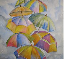 Umbrella Rainy Day Blues 2 by Heather Holland by Heatherian