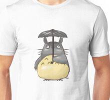 Totoro Watercolor Under an Umbrella Unisex T-Shirt
