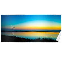 Rainbow Reservoir Sunset  Poster