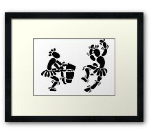 """""""Beat Of A Different Drum"""" Artwork by Carter L. Shepard""""   Framed Print"""