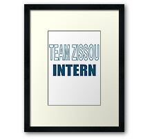 Team Zissou Intern - The Life Aquatic Framed Print