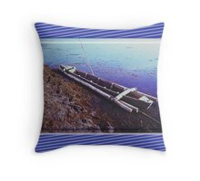 Canoe - comfortable feeling of a small boat Throw Pillow