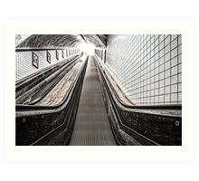Urban Rush II - The Escalator Art Print