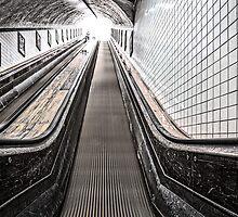 Urban Rush II - The Escalator by Juvani Photo | Digital Art