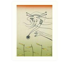 Lost amulet of love Art Print