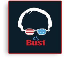 Bernie or Bust (dark blue background) Canvas Print