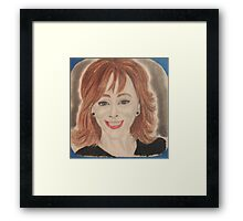 an American country music singer, songwriter, record producer, actress and television producer.  Framed Print