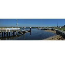 Werribee River - Boat ramp Photographic Print