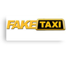 Fake funky taxi Canvas Print