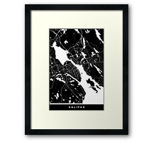 Halifax - Minimalist City Map Framed Print