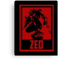 Zed League of Legends Canvas Print