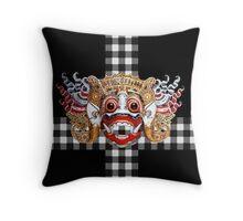 Hanuman etnic mask bali dance Throw Pillow