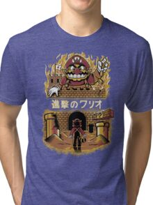 ATTACK ON WARIO Tri-blend T-Shirt