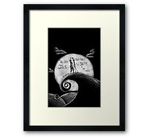 Jack And Sally Blink - 182 Pen Drawing Framed Print