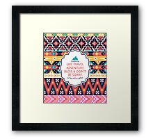 Seamless pattern in native american style Framed Print