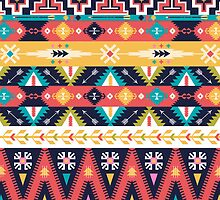 Seamless pattern in native american style by Olena Syerozhym