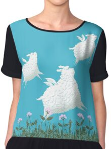 Flying Sheep Meadow Larks Women's Chiffon Top