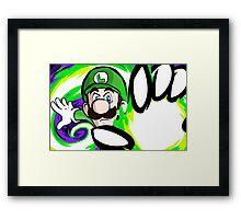 Luigi   Fireball Framed Print