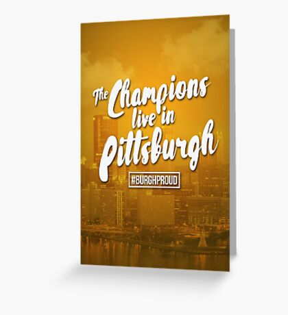 City of Champions Greeting Card
